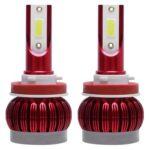 1 Pair LED Car Headlight Bulbs 48W 12000LM 6000K DOB Headlamp Bulbs (H11)