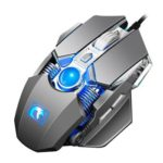 M338 USB Wired Optical 8 Programmable Buttons 4000DPI Gaming Mouse (Grey)
