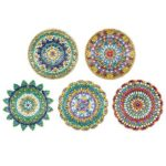 5pcs DIY Full Drill Diamond Paintng Special Shape Mandala Pattern Key Chain