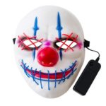 Bigmouth Joker Shaped LED Cold Light Glowing Mask Halloween Party Decor