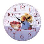 European Retro Wall Clock Vintage Sunflower Hanging Room Home Bar Decor (5)