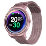 LEMFO ELF1 Smart Watch 1.3 inch Touch Screen Heart Rate Monitor (Pink)