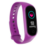 M4 Smart Band Fitness Tracker Heart Rate Blood Pressure Monitor (Purple)