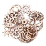 36pcs 20-36mm Wooden DIY Mixed Wheel Gear Blank Hollow Art Craft Home Decor