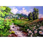 5D DIY Full Drill Diamond Painting Scenery Cross Stitch Mosaic Kits (w660)