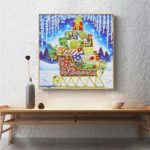 5D DIY Special Shaped Diamond Painting Sleigh Cross Stitch Mosaic Craft Kit