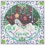 5D DIY Special Shaped Diamond Painting Christmas Rocking Horse Cross Stitch