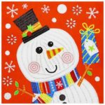 5D DIY Special Shaped Diamond Painting Christmas Snowman Cross Stitch Kits