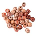 100pcs Colorful Wooden Beads Loose Round Ball Bracelet Necklace Accessories