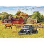 5D DIY Full Drill Diamond Painting Rural Landscape Cross Stitch Work (10)