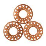 5pcs Wooden Wheel Discs Craft Wood Buttons Wedding Birthday Decor Accessory