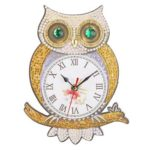 DIY Owl Special Shaped Diamond Painting Embroidery Clock Kids Room Decor