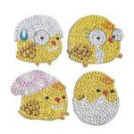 4pcs DIY Full Drill Special Shaped Chicken Diamond Painting Fridge Magnet