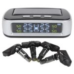 T03 Solar Car TPMS LCD Tire Pressure Monitor System with 4 Internal Sensors