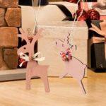 Christmas Wooden Cute Elk Shape Pendants Kids Gifts Room Decor (JM01621)