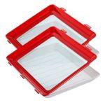 2pcs Food Storage Trays Food Fresh Spacer Organizer Kitchen Accessories