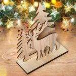 Santa Claus Snowman Elk Wooden Christmas Ornaments DIY Decor (JM01552)