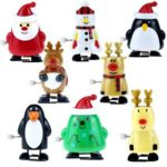 8pcs Wind Up Kids Educational Toys Clockwork Walking Toys Xmas Decor Gift