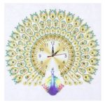 DIY Peafowl Special Shaped Diamond Painting Embroidery Clock Home Decor