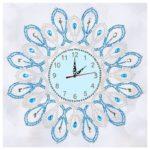 DIY Geometric Special Shaped Diamond Painting Cross Stitch Clock Home Decor