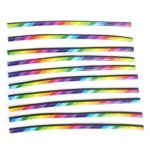 10pcs Car Styling Air Outlet A/C Vent Grille Strips Universal (Multicolor)