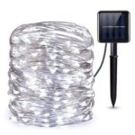 200 LED Copper Wire Waterproof IP68 Solar LED String Lights (White 20m)