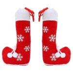 Christmas Boots Snowflake Candy Stocking Gift Bag Socks New Year Xmas Decor