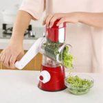 Manual Vegetable Fruit Potato Cutter Slicer Shredder Kitchen Gadgets (Red)