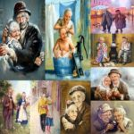 5D DIY Full Drill Diamond Painting Older Couples Cross Stitch Kits (hg835)
