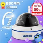 ESCAM QD800 ONVIF Day/Night Vision Infrared 2MP 1080P WiFi IP Camera (EU)