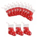 Christmas Stocking Snowflakes Candy Bag Party Home Pendant Decor (12pcs)