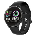 SE01 Smart Watch Heart Rate Blood Pressure IP68 Wristband (Black)(Silicone)