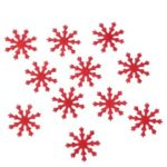100pcs Chirstmas Snowflakes DIY Scrapbooking Home Party Wedding Decor (Red)