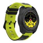 KW01 Smart Watch IP68 Waterproof Fitness Tracker Smartwatch (Black Green)