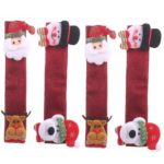 4pcs/set Fridge Microwave Door Handle Cover Protective Glove Xmas Decor