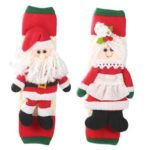 2pcs/set Christmas Fridge Microwave Oven Door Handle Cover Protective Glove
