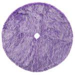 120cm Christmas Tree Skirts Round Purple Plush Apron Home Party Decor (L)