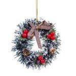 12cm Artificial Christmas Garland Ornaments Wreath Festival Home Decor (F)