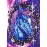 5D DIY Special Shaped Diamond Paintings Horse Pattern Embroidery Mosaic Kit