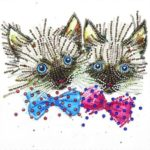 5D DIY Special Shaped Diamond Painting Cats Pattern Cross Stitch Wall Decor