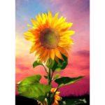 5D DIY Full Drill Diamond Painting Sunflower Cross Stitch Craft Kit (z1312)