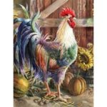 5D DIY Full Drill Diamond Painting Rooster Cross Stitch Mosaic Kits (z1308)