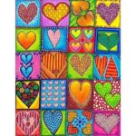 5D DIY Full Drill Diamond Painting Heart Cross Stitch Mosaic Craft Kits