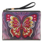 DIY Butterfly Special Shaped Diamond Painting Wristlet Wallet Women Clutch