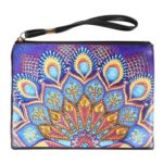 DIY Mandala Special Shaped Diamond Painting Wristlet Clutch Women Wallet