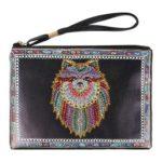 DIY Wolf Special Shaped Diamond Painting Women Wristlet Bag Zipper Wallet