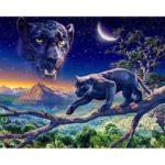 5D DIY Full Drill Diamond Painting Leopard Cross Stitch Mosaic Kit (P0102)