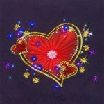 5D DIY Special Shaped Diamond Painting Heart Pattern Needlework Home Decor