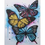 5D DIY Special Shaped Diamond Painting Butterfly Cross Stitch Kits (H148)