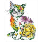5D DIY Full Drill Diamond Painting Flower Cat Cross Stitch Mosaic Kit Decor
